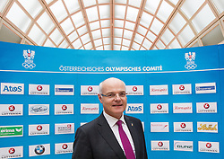 28.01.2014,  Marriott, Wien, AUT, Sochi 2014, Einkleidung OeOC, im Bild ÖOC-Präsident Karl Stoss // Austrian Olympic Committee President Karl Stoss during the outfitting of the Austrian National Olympic Committee for Sochi 2014 at the  Marriott in Vienna, Austria on 2014/01/28. EXPA Pictures © 2014, PhotoCredit: EXPA/ JFK