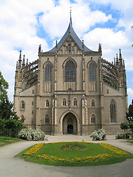 Exterior of St. Barbara's Cathedral, Kutna Hora, Bohemia, Czech Republic