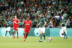 September 22, 2018 - Saint Etienne, France - 12 CLAUDIO BEAUVUE (CAEN) - 28 NEVEN SUBOTIC  (Credit Image: © Panoramic via ZUMA Press)