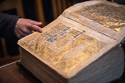 17 December 2016, Cairo, Egypt: An ancient Bible found in the library of the Coptic Orthodox Saint Macarius Monastery.