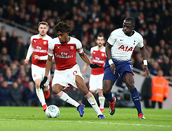 December 19, 2018 - London, England, United Kingdom - London, UK, 19 December, 2018.Alex Iwobi of Arsenal.during Carabao Cup Quarter - Final between Arsenal and Tottenham Hotspur  at Emirates stadium , London, England on 19 Dec 2018. (Credit Image: © Action Foto Sport/NurPhoto via ZUMA Press)