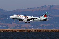 Airbus A320-211 (C-FDST) operated by Air Canada landing at San Francisco International Airport (KSFO), San Francisco, California, United States of America