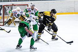 Enes Gorse of Slavija during ice-hockey match between HK Playboy Slavija and HDD Telemach Olimpija in second game of Final at Slovenian National League, on April 8, 2013 at Dvorana Zalog, Ljubljana, Slovenia. (Photo By Matic Klansek Velej / Sportida.com)