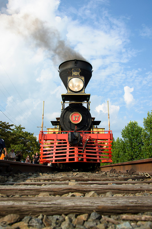 The William H. Simpson #17 is a faithful replica of the Civil War steam locomotive that carried Abraham Lincoln to deliver his now famous Gettysburg Address.
