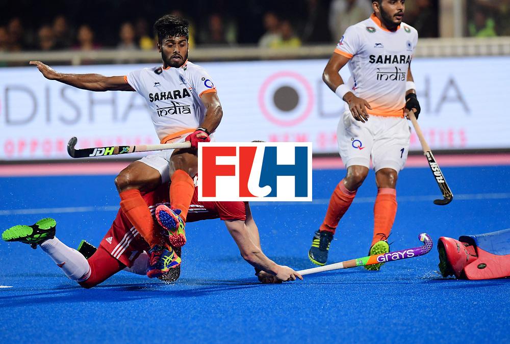 Odisha Men's Hockey World League Final Bhubaneswar 2017<br /> Match id:05<br /> 06 IND v ENG (Pool B)<br /> Foto: Sam Ward (Eng) scores 2-2<br /> WORLDSPORTPICS COPYRIGHT FRANK UIJLENBROEK