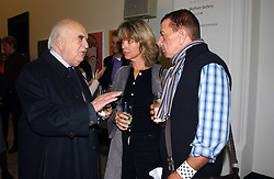 Left to right, LORD WEIDENFELD, SABRINA GUINNESS and NICKY HASLAM at a party to celebrate the publication of 'You Are Here' by Rory Bremner, Juhn Bird and John Fortune held at the National Portrait Gallery, St.Martin's Place, London on 1st November 2004.<br /><br />NON EXCLUSIVE - WORLD RIGHTS