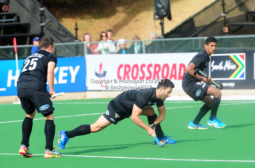 Kane Russel of New Zealand lines up a shot during 2017 Hockey World League Men Semi Final game between Spain and New Zealand at Wits Hockey Fields in Parktown on 17 July 2017 ©Aubrey Kgakatsi/BackpagePix / www.photosport.nz