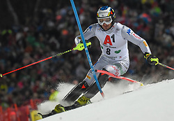 "29.01.2019, Planai, Schladming, AUT, FIS Weltcup Ski Alpin, Slalom, Herren, 1. Lauf, im Bild Manfred Moelgg (ITA) // Manfred Moelgg of Italy in action during his 1st run of men's Slalom ""the Nightrace"" of FIS ski alpine world cup at the Planai in Schladming, Austria on 2019/01/29. EXPA Pictures © 2019, PhotoCredit: EXPA/ Erich Spiess"