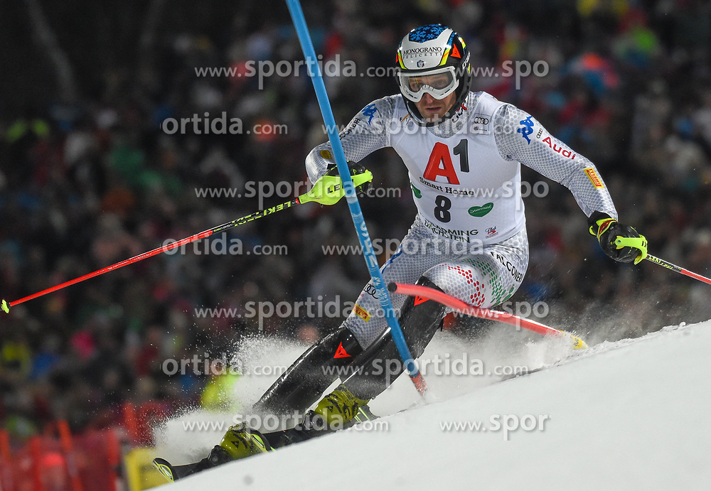 """29.01.2019, Planai, Schladming, AUT, FIS Weltcup Ski Alpin, Slalom, Herren, 1. Lauf, im Bild Manfred Moelgg (ITA) // Manfred Moelgg of Italy in action during his 1st run of men's Slalom """"the Nightrace"""" of FIS ski alpine world cup at the Planai in Schladming, Austria on 2019/01/29. EXPA Pictures © 2019, PhotoCredit: EXPA/ Erich Spiess"""