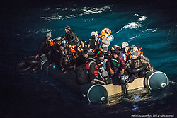 "9th of Jan 2016..Dramatic rescues as refugee deaths in Aegean reach record high..MOAS team make a sighting of a large rubber dinghy with 48 people onboard ( 8 males, 16 females and 14 children). The boat is in distress in the heavy swell. Three men are then spotted in sea by the MOAS searchlight. The men looking exhausted are encouraged to swim and grasp hold of the Jacobs ladder hanging on the side of the MOAS Rescue ship, Responder. With rescues swimmers at the ready, the men are pulled to safety. The men had fallen from the dinghy and could not climb back due to the high seas and their boat being already so overcrowded. Their rubber boat with their family members aboard was then safely brought alongside the Responder and all remaining 45 people, mainly Syrians were brought on deck, exhausted..ATHAGONISI - Search and rescue charity Migrant Offshore Aid Station (MOAS) has assisted hundreds of refugees from hostile seas between Turkey and Greece since it began operating in the region just before Christmas.. .The MOAS crew has witnessed shocking scenes of life and death, having led complex deep water and nearshore rescues over the past four weeks. The human toll has been described as ""distressing"" and ""desperate"" by reporters who have been embedded with MOAS.. .MOAS, which saved almost 12,000 refugees from the Mediterranean Sea since 2014, expanded its operations to the Aegean Sea thanks to thousands of donations that reached the organisation after the horrific death of Alan Kurdi, a Syrian toddler who was photographed washed ashore on a Turkish beach last September.. .The charity is operating off the Greek island of Agathonisi from a 51-metre vessel equipped with two fast rescue launches named after Alan and his brother Galip, who also died in September's shipwreck.. .According to the International Organisation for Migration (IOM), 2016 appears to be a record year for both refugee arrivals and deaths at sea. In the first three weeks, f"
