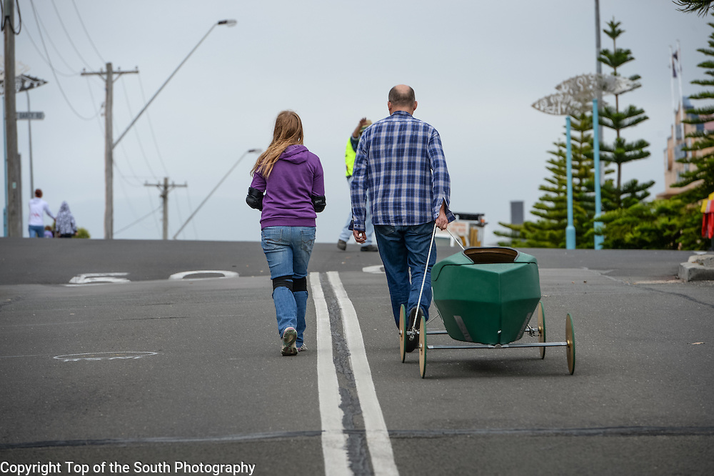 Annual Port Kembla Billy Cart Derby 2015, NSW, Australia