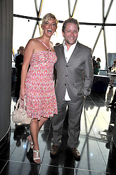 Jon Culshaw and Caroline Feraday at the Variety Club gala evening held at The Gherkin, St.Mary Axe, City of London on 2nd July 2009.