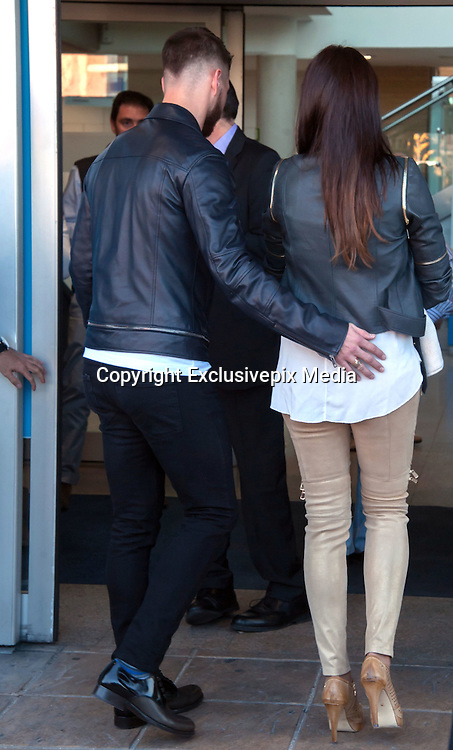 MADRID, SPAIN, 2015, NOVEMBER 17 <br /> <br /> Sergio Ramos and Pilar Rubio introduce Marco newborn son<br /> <br /> Sergio Ramos, Real Madrid player and Pilar Rubio introduce there second child. The child will be called Marco. On his way out of the Sanitas Clinic, after giving birth.<br /> &copy;Exclusivepix Media