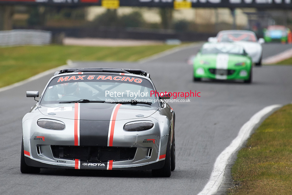 #4 Ian LOVERSIDGE Mazda MX5 Mk3 2000 during Max 5 Championship as part of the BARC NW - Championship Raceday  at Oulton Park, Little Budworth, Cheshire, United Kingdom. March 19 2016. World Copyright Peter Taylor/PSP. Copy of publication required for printed pictures.  Every used picture is fee-liable. http://archive.petertaylor-photographic.co.uk