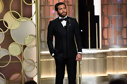 Jan 8, 2017 - Beverly Hills, California, U.S - Presenter JAKE GYLLENHAAL on stage at the 74th Annual Golden Globe Awards at the Beverly Hilton in Beverly Hills, CA on Sunday, January 8, 2017. (Credit Image: ? HFPA/ZUMAPRESS.com)