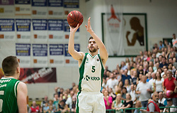 Paolo Marinelli of Krka during basketball match between KK Krka Novo mesto and  KK Petrol Olimpija in 4th Final game of Liga Nova KBM za prvaka 2017/18, on May 27, 2018 in Sports hall Leona Stuklja, Novo mesto, Slovenia. Photo by Vid Ponikvar / Sportida