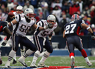 Mike Vrabel, Tedy Bruschi working together, New England Patriots @ Buffalo Bills, 11 Dec 05, 1pm, Ralph Wilson Stadium, Orchard Park, NY