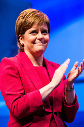 Pictured: Nicola Sturgeon, MSP, First Minister <br /> The members of the SNP gathered in the Scottish Events Centre in Glasgow for their annual conference.<br /> Ger Harley | EEm 8 October 2017