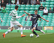 Dundee's Willie Dyer and Celtic's Nir Biton -  Celtic v Dundee - SPFL Premiership at Celtic Park<br /> <br /> <br />  - © David Young - www.davidyoungphoto.co.uk - email: davidyoungphoto@gmail.com