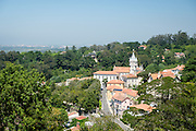 View of Sintra, Portugal, from above.