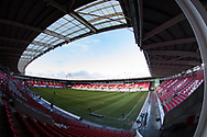 A general view of Parc Y Scarlets, home of Scarlets<br /> <br /> Photographer Simon King/Replay Images<br /> <br /> European Rugby Champions Cup Round 6 - Scarlets v Toulon - Saturday 20th January 2018 - Parc Y Scarlets - Llanelli<br /> <br /> World Copyright &copy; Replay Images . All rights reserved. info@replayimages.co.uk - http://replayimages.co.uk