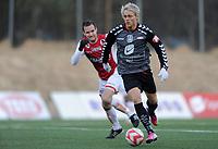 Fotball<br /> 8. Mars 2013<br /> Treningskamp<br /> Varden, Bergen<br /> Brann - Bryne 4 - 2<br /> Fredrik Nordkvelle (R) , Brann<br /> Foto: Astrid M. Nordhaug