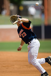 Virginia Cavaliers infielder David Adams (23).  The Oregon State Beavers defeated the Virginia Cavaliers 7-3 in Game 7 of the NCAA World Series Charlottesville Regional held at Davenport Field in Charlottesville, VA on June 5, 2007.  With the win, the Beavers advance to the NCAA Super Regional.