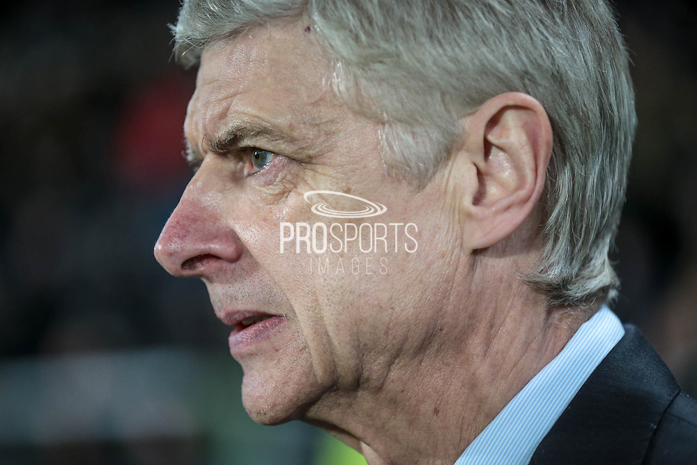 Arsène Wenger (Arsenal) during the The FA Cup fifth round match between Hull City and Arsenal at the KC Stadium, Kingston upon Hull, England on 8 March 2016. Photo by Mark P Doherty.