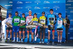 The jersey winners after Stage 3 of the Amgen Tour of California - a 70 km road race, starting and finishing in Sacramento on May 19, 2018, in California, United States. (Photo by Balint Hamvas/Velofocus.com)