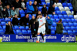 Tranmere Rovers's George Donnelly is sent off - Photo mandatory by-line: Neil Brookman/JMP - Mobile: 07966 386802 - 08/11/2014 - SPORT - Football - Birkenhead - Prenton Park - Tranmere Rovers v Bristol Rovers - FA Cup - Round One