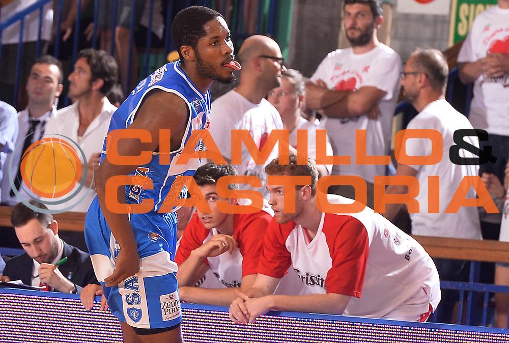 DESCRIZIONE : Reggio Emilia Lega A 2014-15 Grissin Bon Reggio Emilia - Banco di Sardegna Sassari playoff finale gara 7 <br /> GIOCATORE :Dyson Jerome<br /> CATEGORIA : Esultanza<br /> SQUADRA : Banco di Sardegna Sassari<br /> EVENTO : LegaBasket Serie A Beko 2014/2015<br /> GARA : Grissin Bon Reggio Emilia - Banco di Sardegna Sassari playoff finale gara 7<br /> DATA : 26/06/2015 <br /> SPORT : Pallacanestro <br /> AUTORE : Agenzia Ciamillo-Castoria / Richard Morgano<br /> Galleria : Lega Basket A 2014-2015 Fotonotizia : Reggio Emilia Lega A 2014-15 Grissin Bon Reggio Emilia - Banco di Sardegna Sassari playoff finale gara7<br /> Predefinita :