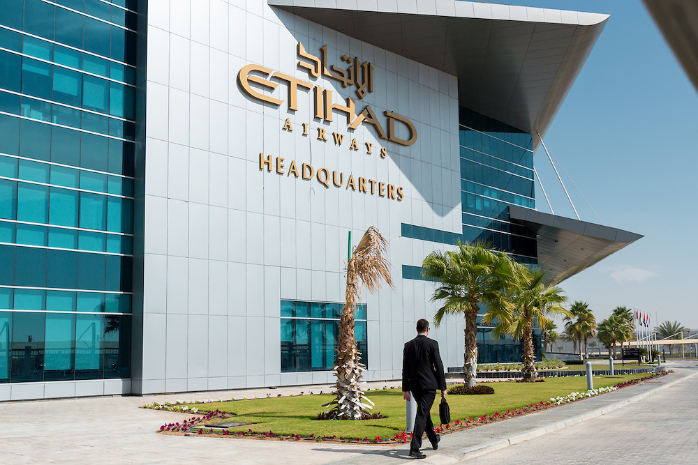 ABU DHABI, UAE - FEBRUARY 8, 2015: Etihad Airways Headquarters.