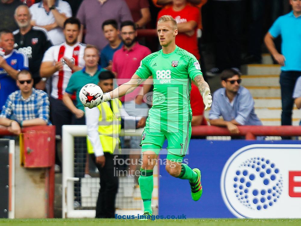 Daniel Bentley of Brentford during the Sky Bet Championship match between Brentford and Sheffield Wednesday at Griffin Park, London<br /> Picture by Mark D Fuller/Focus Images Ltd +44 7774 216216<br /> 27/08/2016