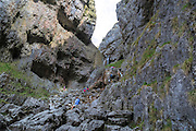 Gordale Scar, Malham, Craven, North Yorkshire, England, UK