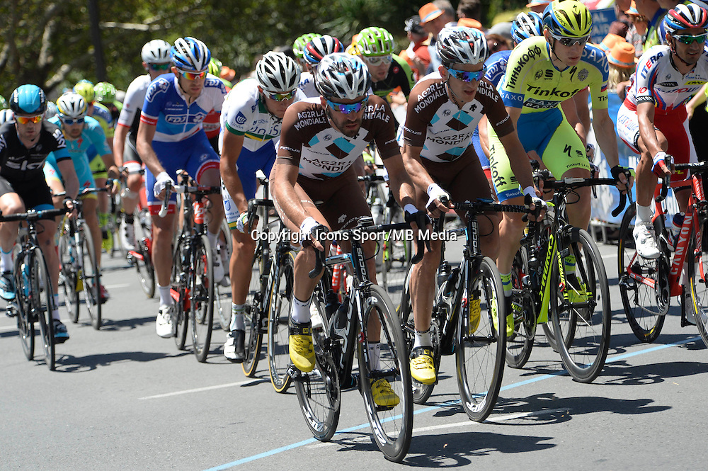 Riblon Christophe / Kadri Blel  -   Ag2r La Mondiale - 25.01.2015 -  Etape 06 du Tour Down Under 2015<br />