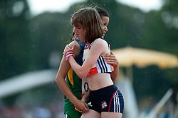 HIPOLITO Veronica, HAHN Sophie, BRA, GBR, 200m, T38, 2013 IPC Athletics World Championships, Lyon, France