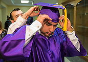 Advanced Virtual Academy / Twilight Academy seniors participate in a graduation ceremony at Reagan High School, May 31, 2014.