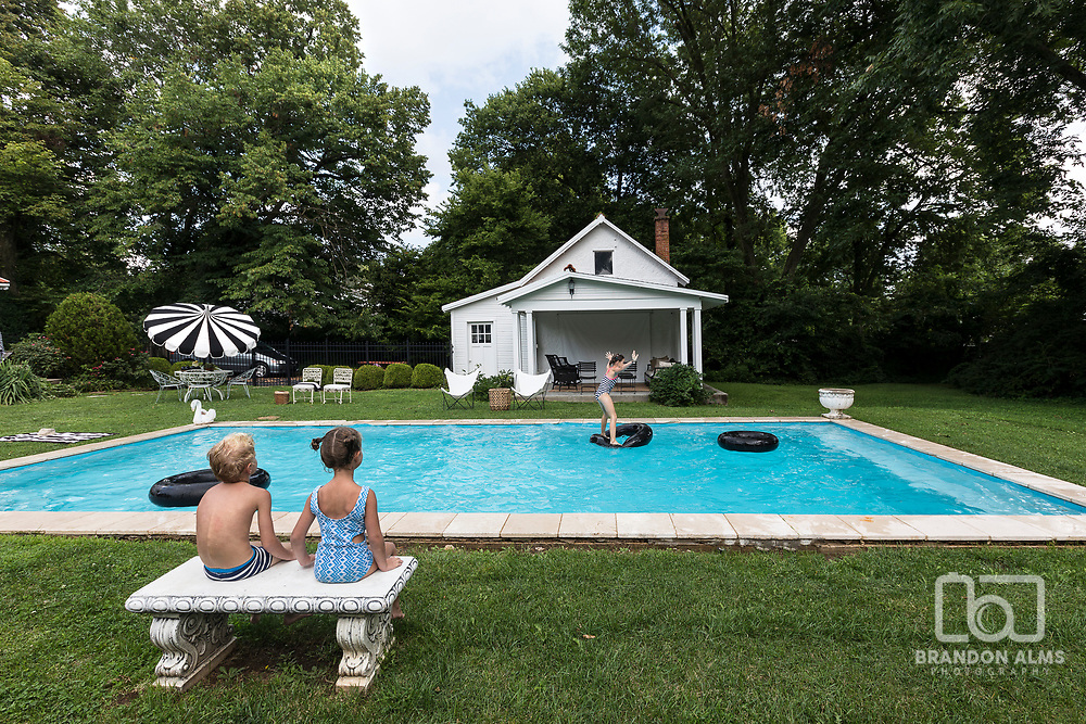 Backyard with nice pool. Photo by Brandon Alms Photography.