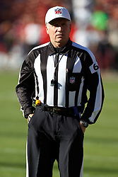 October 10, 2010; San Francisco, CA, USA;  NFL referee Walt Anderson (66) on the field before the game between the San Francisco 49ers and the Philadelphia Eagles at Candlestick Park.