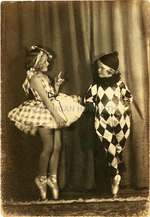 ballerina young girl on toe circa 1925