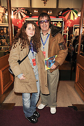 BILL WYMAN and his daughter KATIE at the gala opening night of Cirque du Soleil's Varekai at the Royal Albert Hall, London on 5th January 2010.