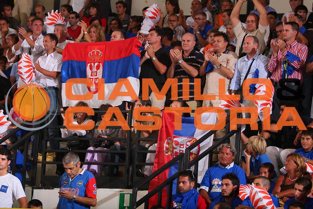 DESCRIZIONE : Cagliari Qualificazione Eurobasket 2009 Serbia Italia <br /> GIOCATORE : Tifosi Supporters <br /> SQUADRA : Serbia <br /> EVENTO : Raduno Collegiale Nazionale Maschile <br /> GARA : Serbia Italia Serbia Italy <br /> DATA : 20/08/2008 <br /> CATEGORIA : <br /> SPORT : Pallacanestro <br /> AUTORE : Agenzia Ciamillo-Castoria/S.Silvestri <br /> Galleria : Fip Nazionali 2008 <br /> Fotonotizia : Cagliari Qualificazione Eurobasket 2009 Serbia Italia <br /> Predefinita :