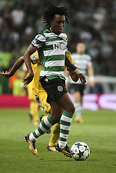 October 31, 2017 - Lisbon, Portugal - Sporting's forward Gelson Martins in action during the Champions League  football match between Sporting CP and Juventus FC at Jose Alvalade  Stadium in Lisbon on October 31, 2017. (Credit Image: © Carlos Costa/NurPhoto via ZUMA Press)