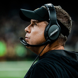 Nov 19, 2017; New Orleans, LA, USA; New Orleans Saints head coach Sean Payton against the Washington Redskins during the first quarter of a game at the Mercedes-Benz Superdome. Mandatory Credit: Derick E. Hingle-USA TODAY Sports