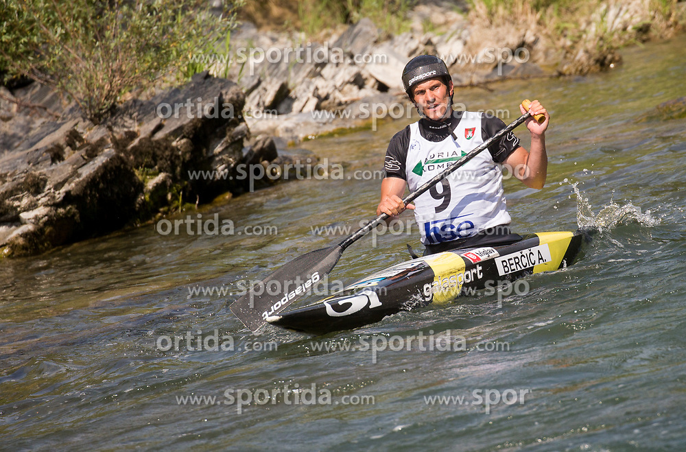Anze Bercic of Slovenia after competing in Final of Canoe Single Men C1  during Day 4 of 2017 ECA Canoe Slalom European Championships, on June 4, 2017 in Tacen, Ljubljana, Slovenia. Photo by Vid Ponikvar / Sportida