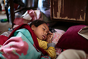 Shortly before midday on the 25th April, 2015, a severe earthquake struck Nepal, causing significant damage and injury. 9,000 people were killed and 22,000 were injured as a direct result and many tens of thousands were left homeless. Seven year-old Lubina was playing with friends when the earthquake struck. She was buried beneath falling rubble, sustaining critical injuries to her legs and pelvis. Discovered by a team from the NGO 'Splash' during an earthquake assessment visit to a school in Kathmandu, medical aid was organised and Lubina received emergency medical treatment from the Mercy Malaysia NGO and then from the staff at the Sushma Koirala Memorial Hospital and was able to make a full recovery.