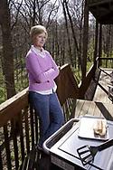 Karen Gianuglou at the grill.