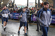 Greig Laidlaw and team mates arrive for the Autumn Test match between Scotland and Argentina at Murrayfield, Edinburgh, Scotland on 24 November 2018.