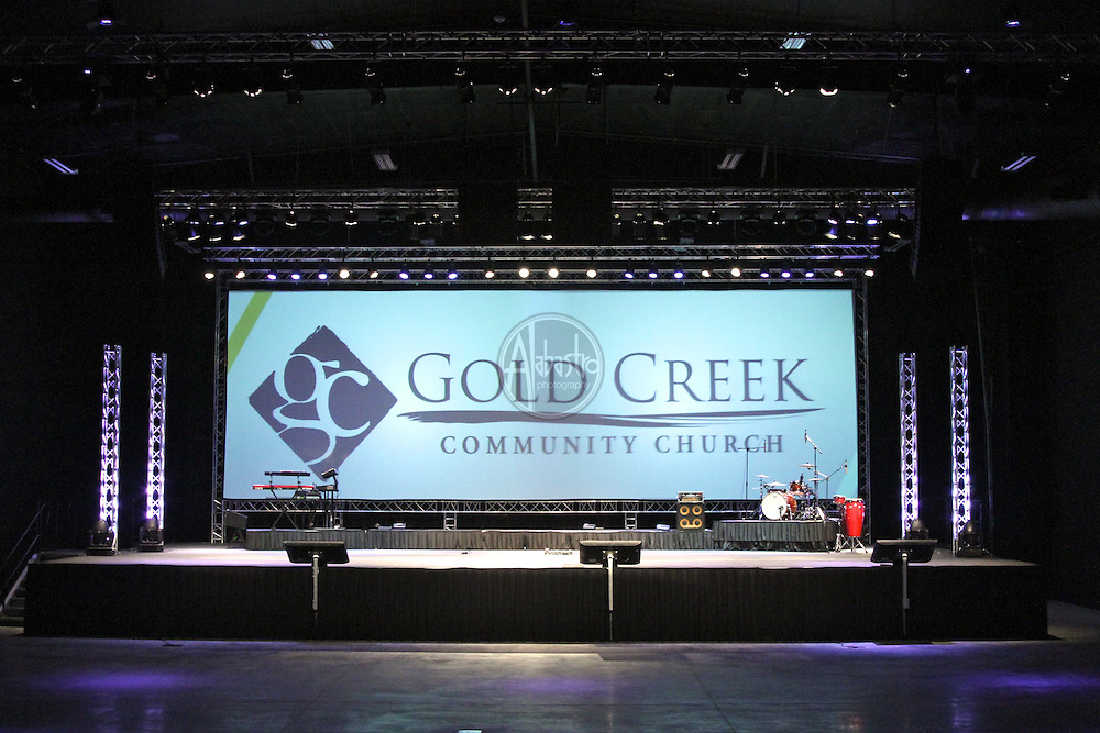 Staging Concepts set up at Gold Creek Community Church in Mill Creek, WA, Oct. 2010.