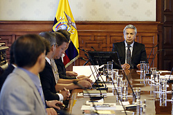 April 17, 2018 - Quito, Pichincha, Ecuador - The President of the Republic, Lenin Moreno, met in the palace of Carondelet with the ambassadors of six countries, the United States will support Ecuador in the fight against organized crime in Quito, Ecuador, April 17, 2018. (Credit Image: © Franklin JáCome/NurPhoto via ZUMA Press)